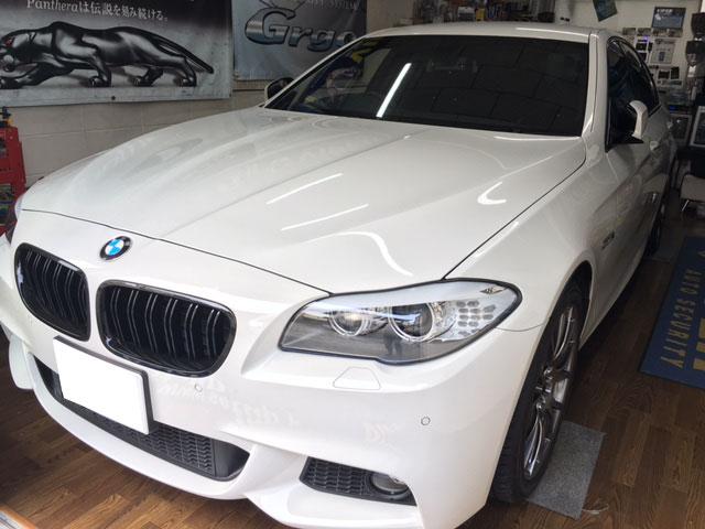 BMW523i(F10)のレーダー探知機取り付け例