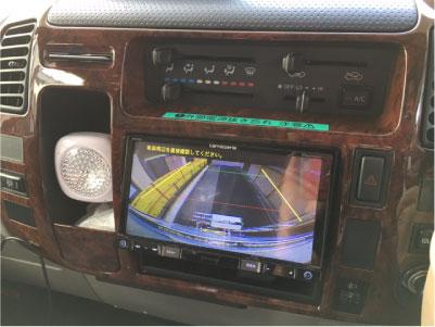 カムロードキャンピングカーのバックカメラ交換例
