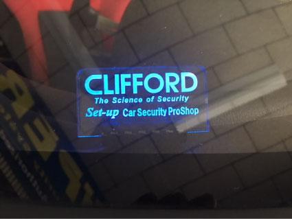 グランドシビックのCLIFFORD取り付け例