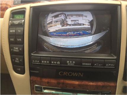 ゼロクラウンのフロントカメラ取り付け例