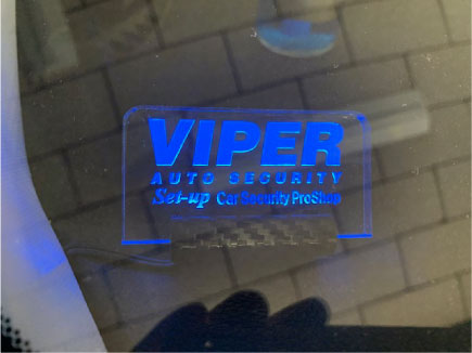 オデッセイのVIPER取り付け例
