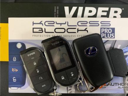 レクサスRX450hLのVIPERDS4とキーレスブロック取り付け例