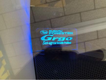フォレスターのエンジンスターター付きGrgo取り付け例