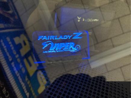 フェアレディZロードスターのエンジンスターター付きVIPER取り付け例