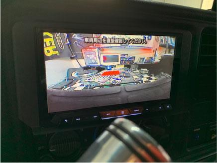 シボレーC1500のバックカメラ取り付け例