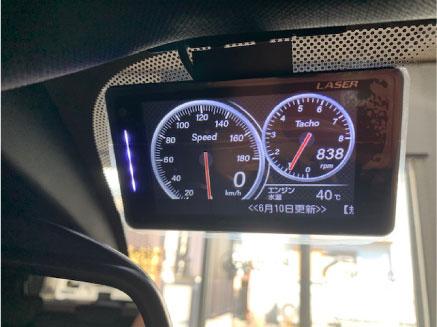 BMWX2のレーダー探知機取り付け例