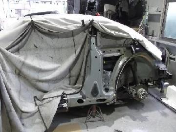 ワーゲン ザ・ビートル 左側面修理