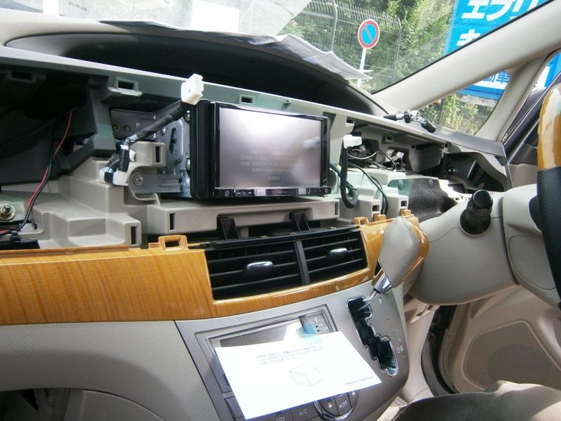 トヨタ エスティマ ナビ取り付け作業
