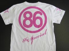 オリジナルTシャツNO2 白字 ピンク文字 Sサイズ