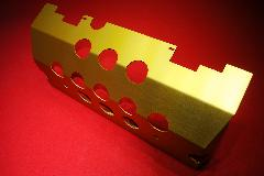 W463 Rear tank guard GOLD / RED