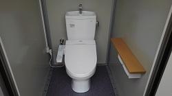 トイレルーム温水洗浄便座、2連ペーパーホルダー棚付き