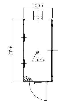 喫煙室 B型 1006×2196