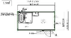 L-UB-45型浴室ハウス 黒木目仕様
