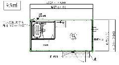 L-UB-45型浴室ハウス ラッピング仕様