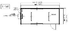 ALB-54型 エアコン付きユニットハウス黒木目仕様