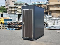 BB-US型 屋外用シャワーユニット 黒木目仕様