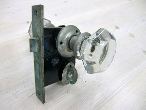 アンティークガラスドアノブ AGD-1