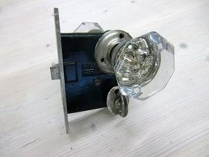 アンティークガラスドアノブ AGD-4