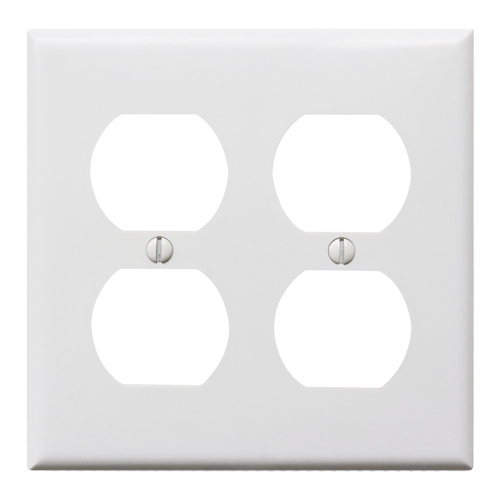 プラスチック4口コンセントプレート(ホワイト)