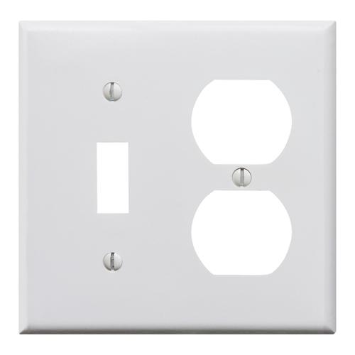 プラスチックコンビプレート(ホワイト)1口スイッチ2口コンセント