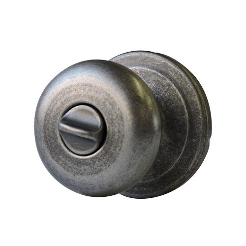 ドアノブ(簡易錠)ラスティックピューター