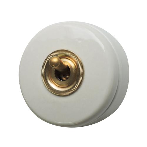 陶器スイッチ(ホワイト)
