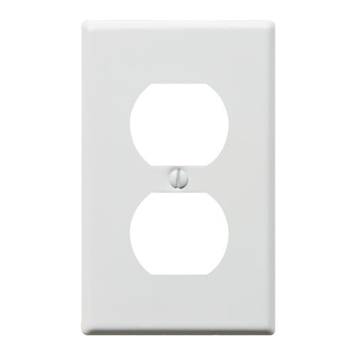 スチール2口コンセントプレート(ホワイト)