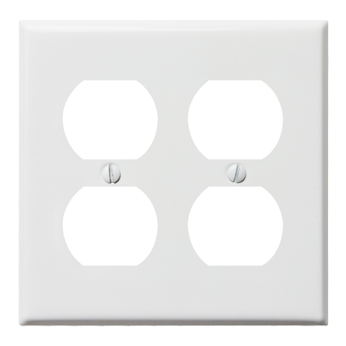 スチール4口コンセントプレート(ホワイト)