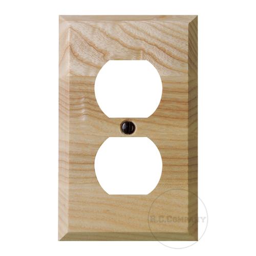 木製2口コンセントプレート(ナチュラル)