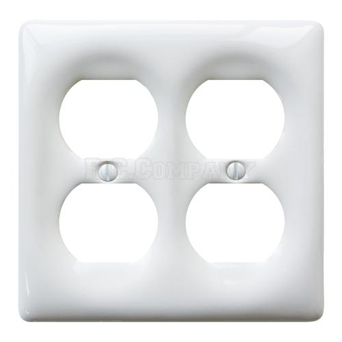 セラミック4口コンセントプレート(ホワイト)