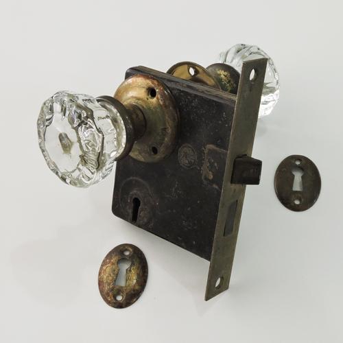 アンティークガラスドアノブ AGD-15
