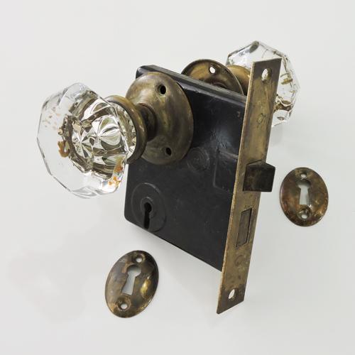 アンティークガラスドアノブ AGD-14