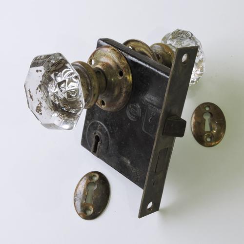 アンティークガラスドアノブ AGD-11