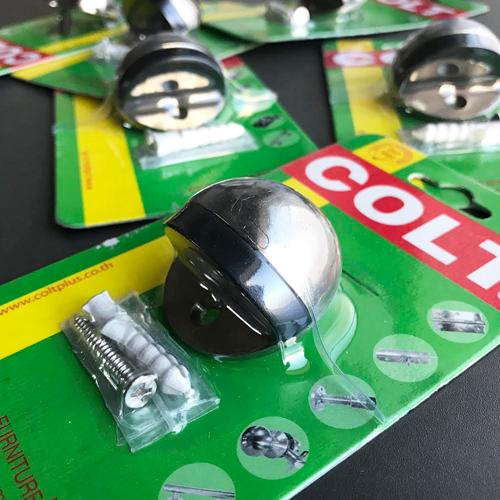 床取付用ドアストッパー ステンレスシルバー COLT社 -限定品-