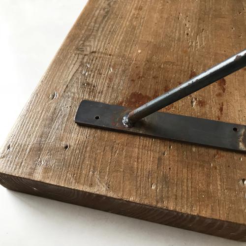 古材棚板【B 90cm】200幅 35厚 ツヤ消しクリア仕上げ