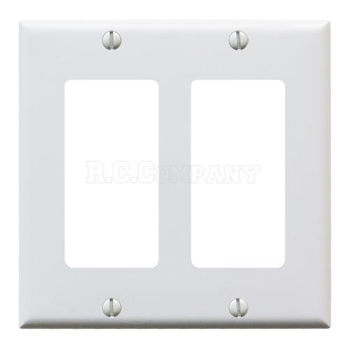 プラスチック2口デコレータープレート (ホワイト)
