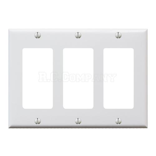 プラスチック3口デコレータープレート (ホワイト)