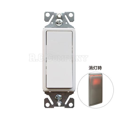 3路ホタルデコレータースイッチ オレンジライト(ホワイト) EATON