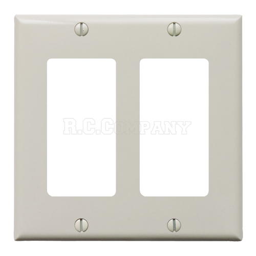 プラスチック2口デコレータープレート (ライトアーモンド)