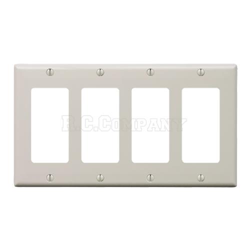 プラスチック4口デコレータープレート (ライトアーモンド)