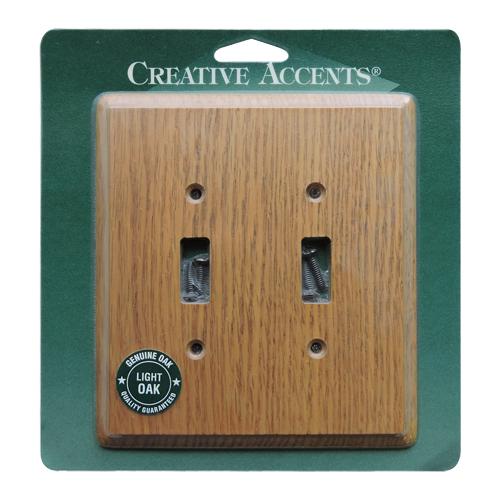 木製2口スイッチプレート(ライトオーク) -限定品-