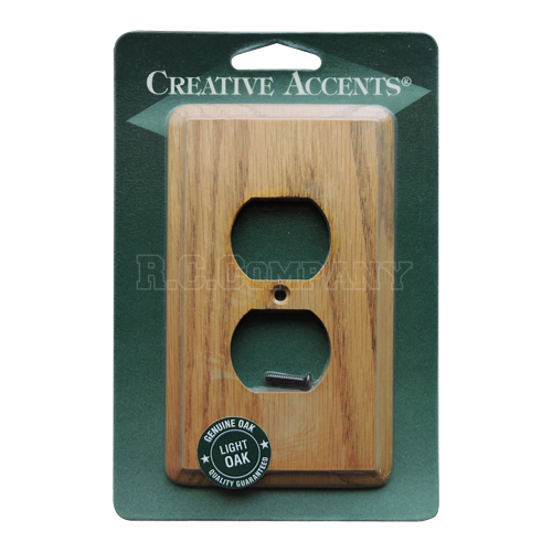 木製2口コンセントプレート(ライトオーク) -限定品-