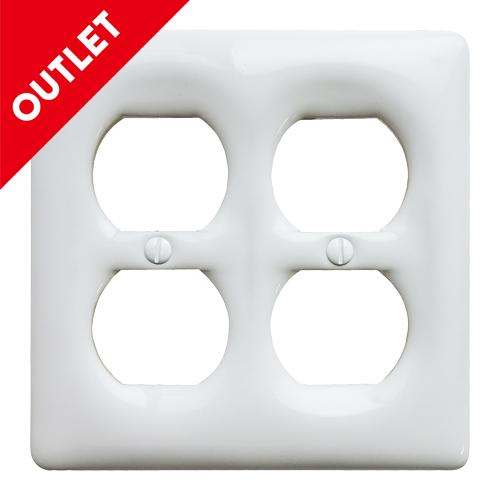 セラミック4口コンセントプレート(ホワイト)OUTLET  -Amerelle TAIWAN-
