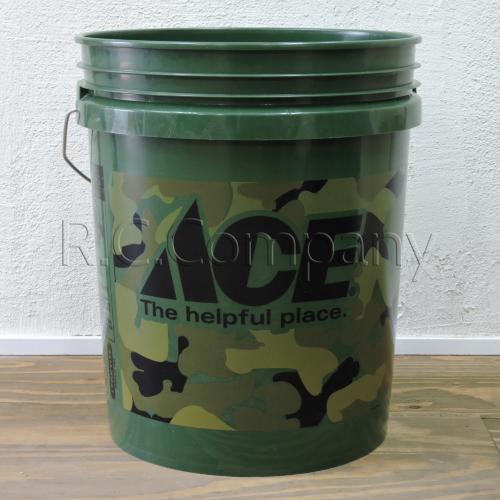 プラスチックバケツ ACE カモフラージュ -限定品-