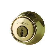 本締り錠(サムターン付)真鍮メッキ