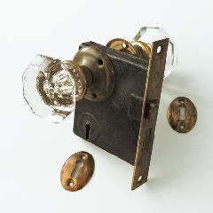 アンティークガラスドアノブ AGD-13