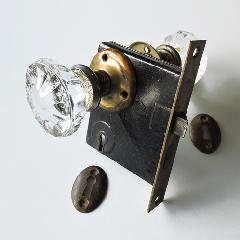 アンティークガラスドアノブ AGD-12