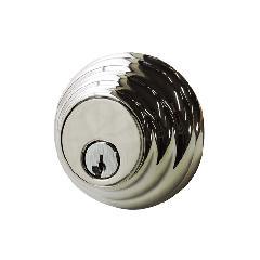 本締り錠 (サムターン付)真鍮製 クロムメッキ仕上げ -限定品-