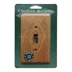 木製1口スイッチプレート(ライトオーク) -限定品-