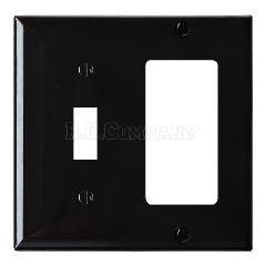 プラスチックコンビプレート(ブラック)1口デコレーター1口スイッチ -限定品-